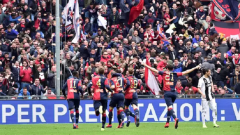 Genoa players celebrate