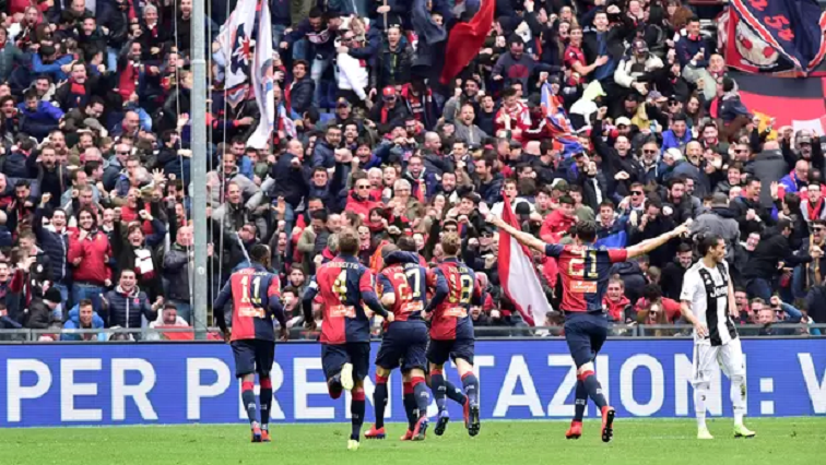 Genoa players celebrate