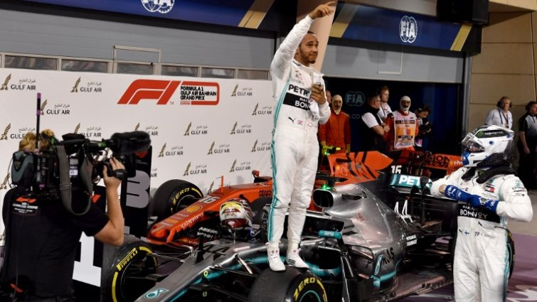 SABC News Hamilton Bahrain AFP - Hamilton wins Bahrain Grand Prix after Leclerc heartbreak