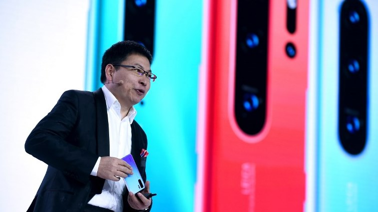 SABC News Huawei CEO AFP - Huawei vows to 'shake off' pressure as network business takes a hit