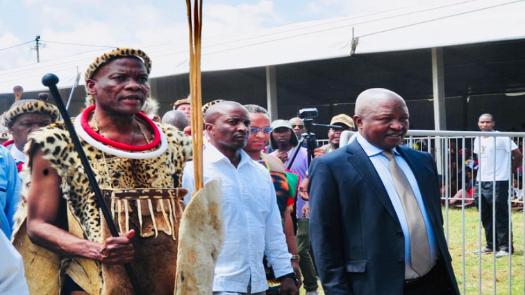 Ndebele King Makhosonke and David Mabuza