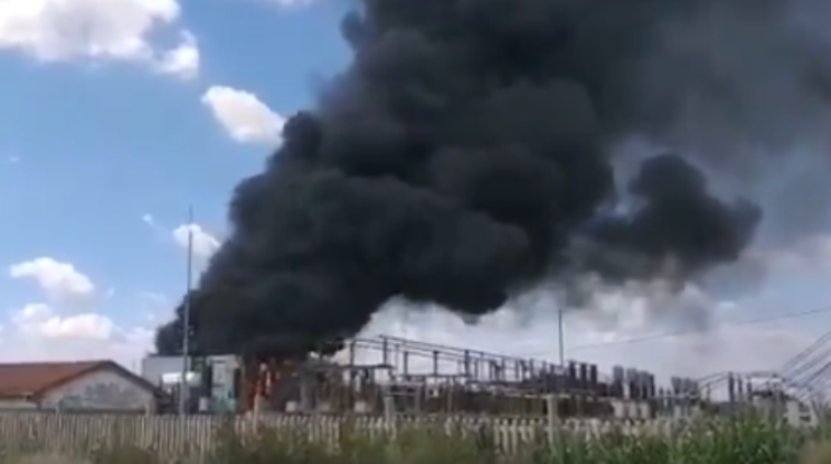 Eskom Allandale substation on fire