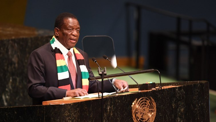 SABC News Mnangagwa AFP - Zim wants to strengthen economic relations with neighbour countries