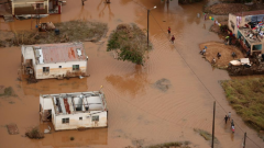 The aftermath of Cyclone Idai on Mozambique.