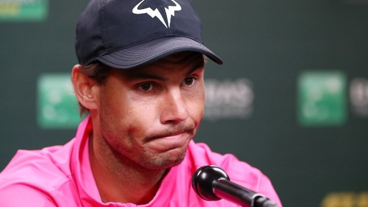 SABC News Nadal AFP 1 - Sad Nadal pulls out of Indian Wells with knee injury