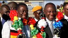 President Cyril Ramaphosa and Emmerson Mnangagwa.