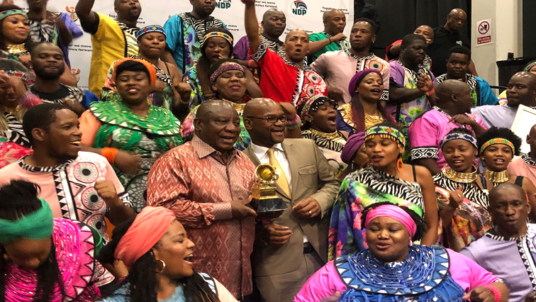 President Ramaphosa, Minister Mthethwa and the Soweto Gospel Choir
