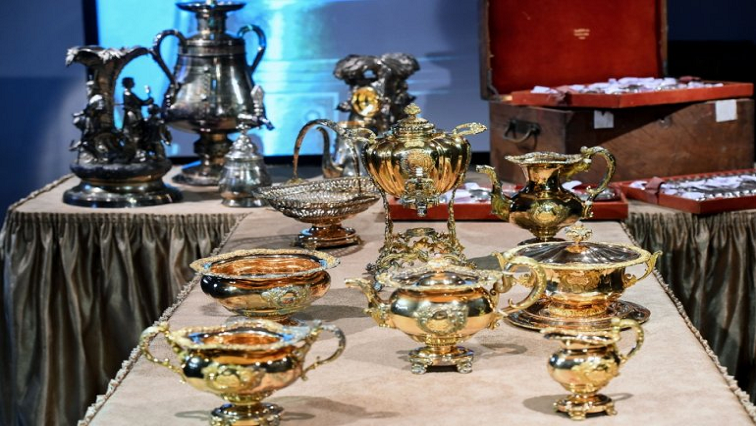 SABC News Russian Aristocrats AFP - Long-lost treasure of Russian aristocrats displayed for first time