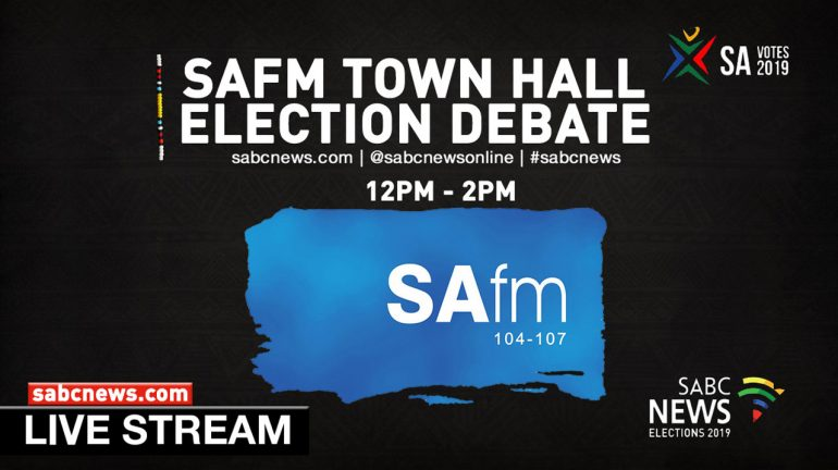SAFM Town Hall pre-election debate