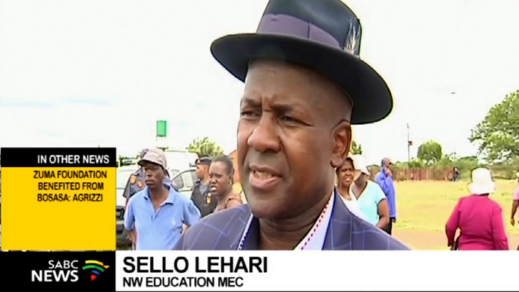 SABC News Sello Lehari - Security to be provided at 200 schools in the N West