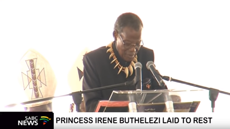 SABC News buthelezi - Mangosuthu Buthelezi pays moving tribute to his wife
