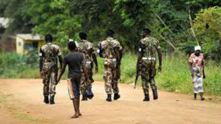 Soldiers from the Mozambican army