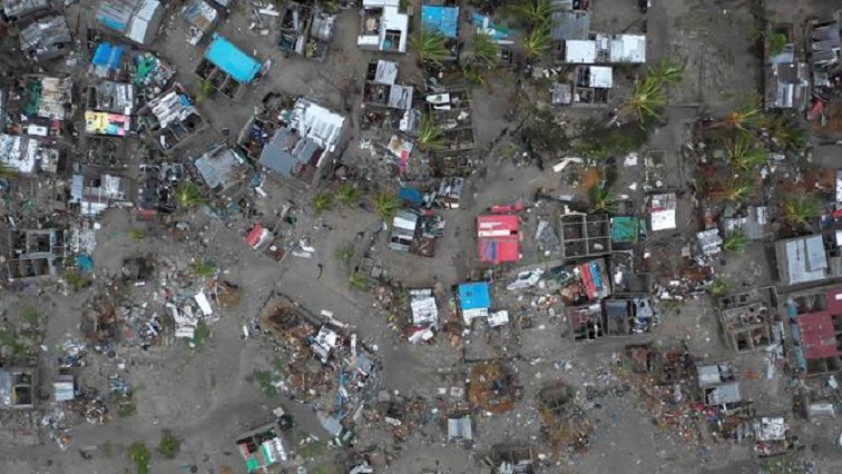 A general view shows destruction after Cyclone Idai in Beira, Mozambique,