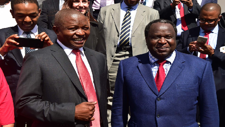 David Mabuza and Tito Mboweni