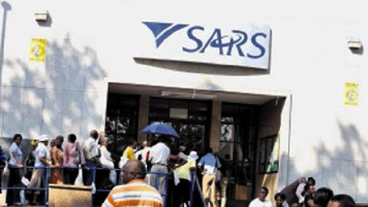 People outside a SARS office