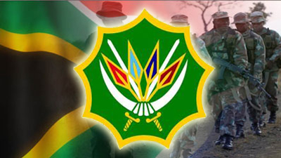 SANDF logo and SA flag