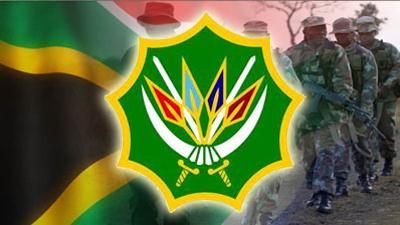 SANDF logo and SA flag