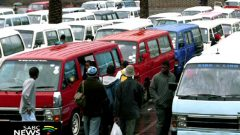 Taxis at the rank.