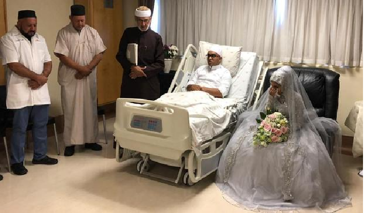 wedding - C Town man who married in hospital is discharged