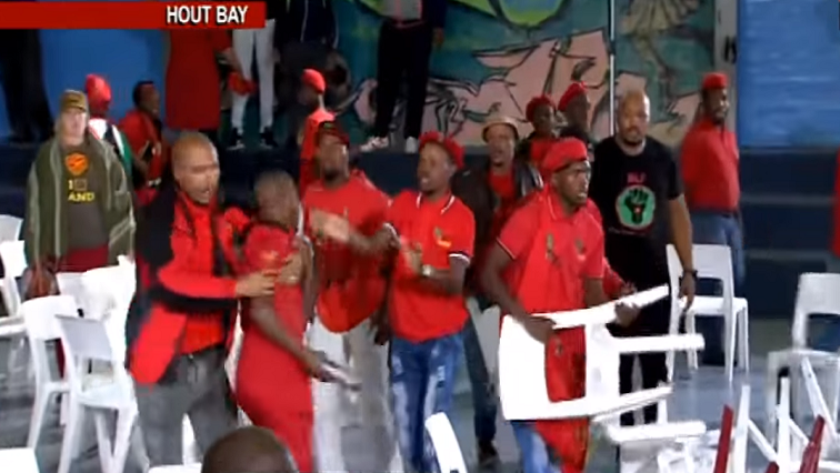 SABC EFF Hout Bay - EFF distances itself from chaos during SABC election debate