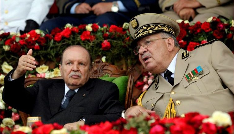 Algeria's President Abdelaziz Bouteflika and Army Chief of Staff General Ahmed Gaed Salah