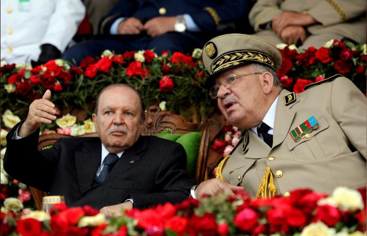 Algeria's President Abdelaziz Bouteflika and Army Chief of Staff General Ahmed Gaed Salah