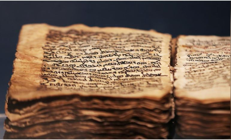 'Codex Syriacus', an ancient copy of the Gospels in Syriac, is seen on display in St. Catherine's Monastery in South Sinai, Egypt.