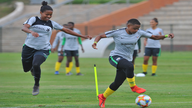 Banyana Banyana players training