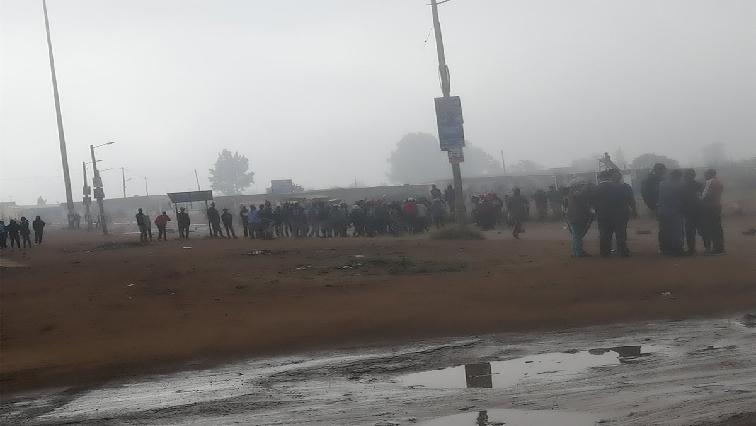 Bekkersdal community protests.