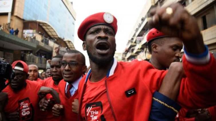 SABC News Bobie Wine AFP - Ugandan pop star opposition MP arrested again