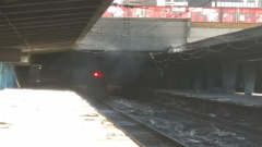 Trains torched