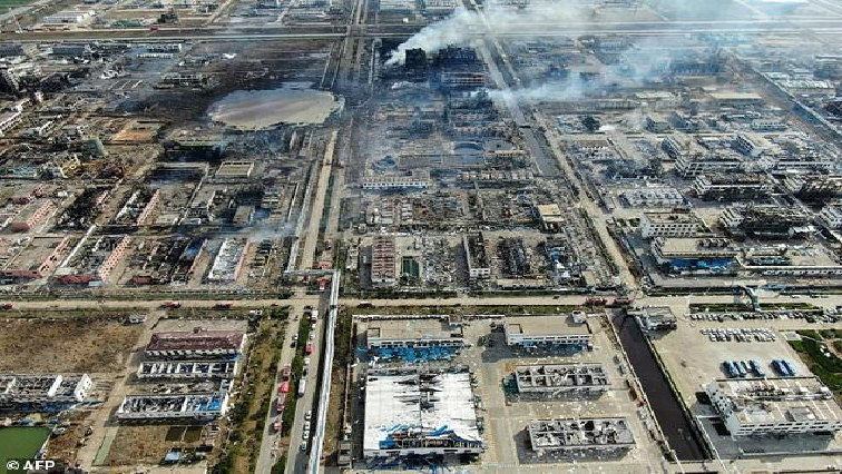 Chemical explosion in China.