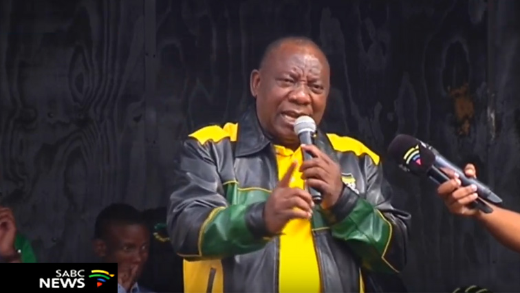 ANC president Cyril Ramaphosa.
