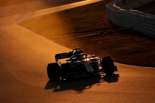 Mercedes' Lewis Hamilton in action during Formula One pre-season testing at the Circuit de Barcelona-Catalunya in Barcelona