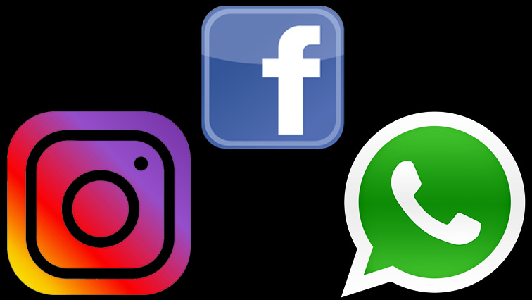 Facebook, WhatsApp, Instagram logos