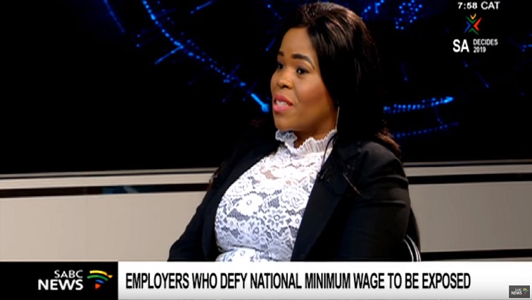SABC News Fikiswa Mcanca - Employees who defy National Minimum Wage to be exposed