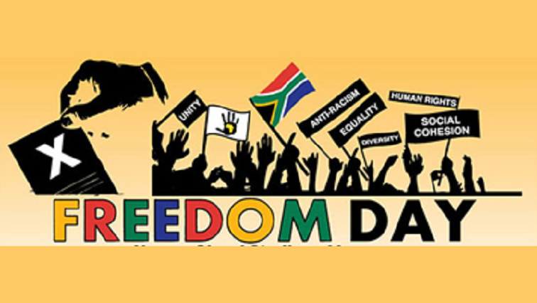 Freedom Day colourful poster