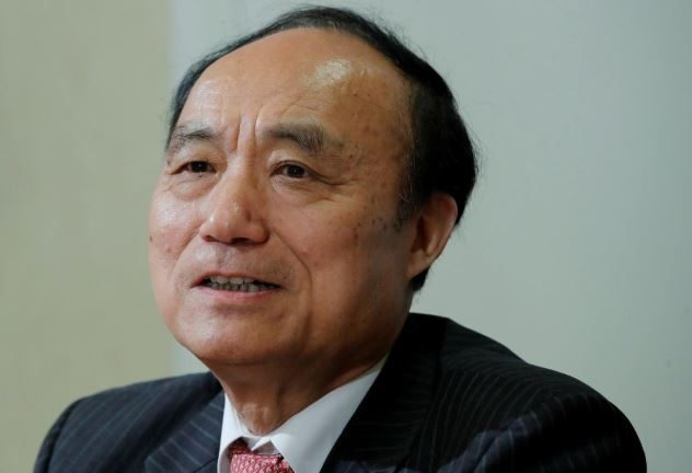 Houlin Zhao Secretary-General of the International Telecommunication Union (ITU) attends a news conference in Geneva.