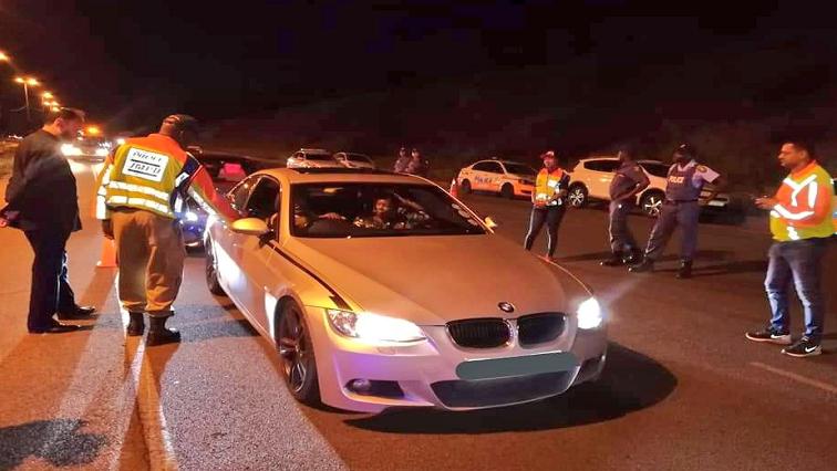 SABC News JMPD Road Block Twitter@AsktheChiefJMPD - Over 150 JMPD Easter weekend arrests thus far