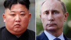 im Jung Un and Vladimir Putin