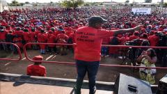 Julius Malema addressing Ventersdorp residents