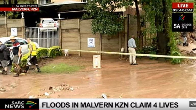 Images from an SABC News report in Malvern KZN.