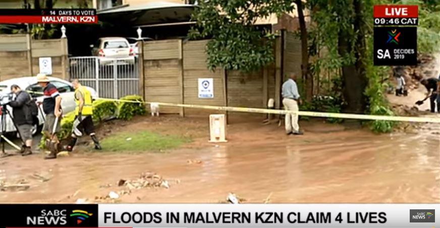 SABC News Malvern KZN SABC - Floods in Malvern KZN claim 7 lives
