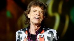 "Mick Jagger of the Rolling Stones performs during a concert of their ""No Filter"" European tour."