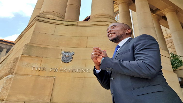 Mmusi Maimane outside the Union Buildings