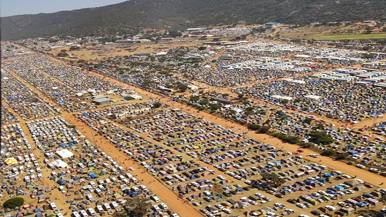 Church grounds at Mount Zion City in Moria, Limpopo.