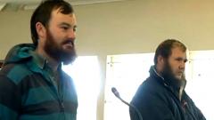 Two farm-workers Phillip Schutte and Pieter Doorewaard