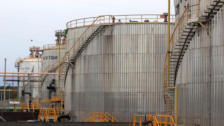 SABC News Oil Tank REUTERS - Oil hits highest since November 2018 amid OPEC cuts, U.S. sanctions