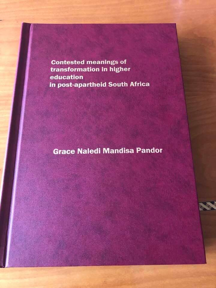 SABC News Pandor Thesis - Pandor gets her doctorate degree