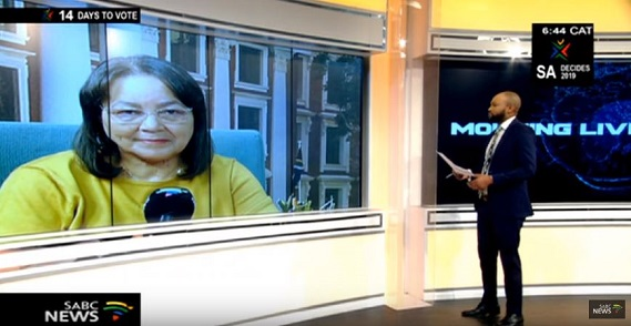 Patricia de Lille during an interview